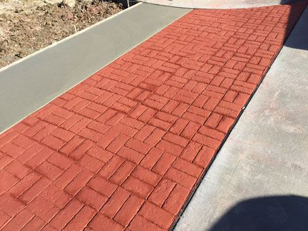 Stamped Concrete Brick And Cobblestone Textures Great