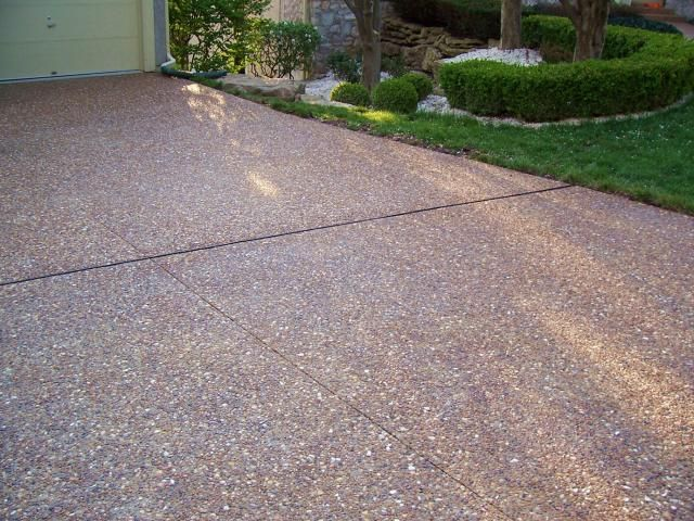 Exposed aggregate great plains concrete for Removing concrete driveway