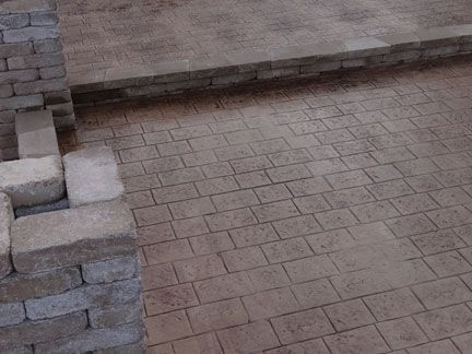 Stamped Concrete Brick And Cobblestone Textures