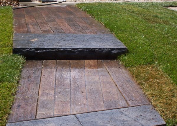 Wood Stamped Concrete : Stamped concrete wood plank texture great plains