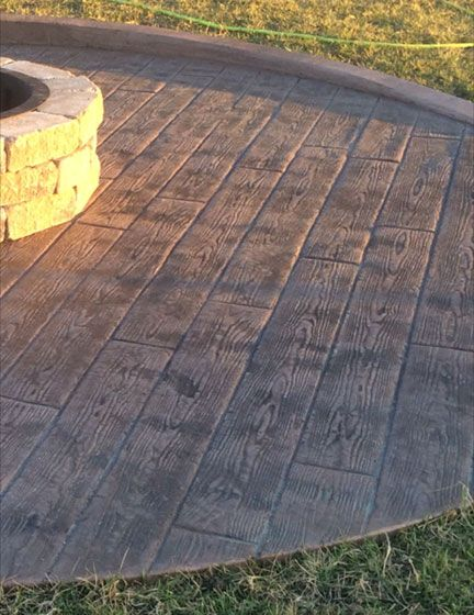 Wood Plank Stamped Concrete : Stamped concrete wood plank texture great plains