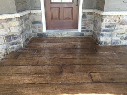 Wood Plank Pattern On Overlay Great Plains Concrete